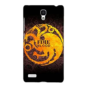 Jugaaduu Game Of Thrones GOT House Targaryen Back Cover Case For Redmi Note