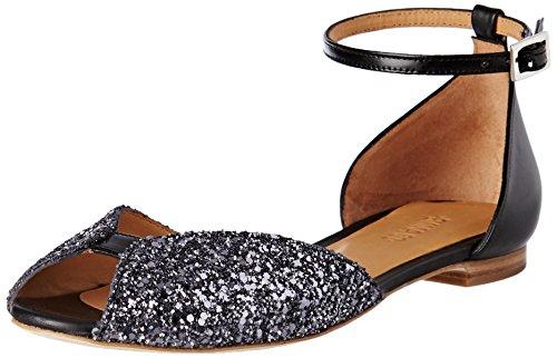 Emma GoJuliette - Laccetto alla caviglia Donna , nero (Noir (Glitter Smoke/Calf Black/Cordoban Black)), 38 EU