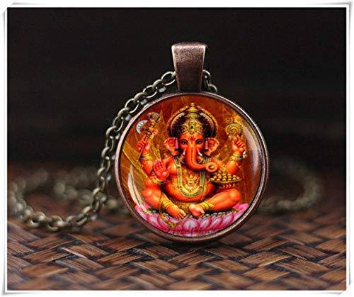 Ganesh Anhänger, Ganesha-Halskette, Ganapati Vinayaka-Gott-Halskette, indischer Gott, indischer Hinduismus, religiöser Schmuck, ein schönes Geschenk.