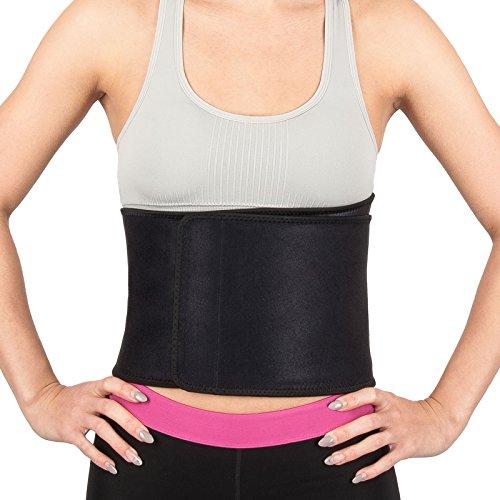 Proworks Verstellbarer Neopren Sauna Bauchweggürtel | Fitnessgürtel für Ihr Training und zum Abnehmen - Unisex - Schwarz