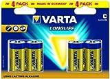 Varta Longlife Extra C Alkaline - 1.5 V Batteries, 4 Pack