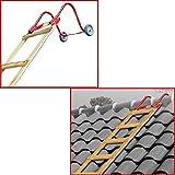 Outifrance 8833400 - Ombrello all'uncinetto su ruote per la scala sul tetto