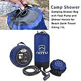Douche de Camping 11L avec Pompe à Pied, Sac de Douche Pliant Portatif Extérieur...