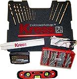 Kress-Werkzeugset (Bit-Box, Bohrern, Wasserwaage, Schrauben usw)