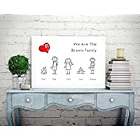 Personalised Family Picture Print Tree A4 Perfect Christmas Birthday Gift Present For Mum Dad Nanna Aunty Sister Grandchildren Grandkids P3