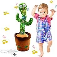 "Dancing Cactus Toy,Shaking, Recording, Singing, Talking toys, ""Repeat your speech"" Plush Stuffed Gif"