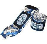 BAY® Camouflage Boxbandagen Box-Bandagen - BLAU schwarz weiß - Hand