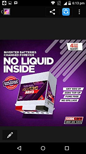 Exide Inverter UPS Battery IT 500 GEL 150 AH - Just fit it and forget!! - No Maintenances & topping