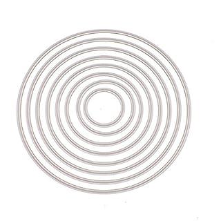 Luluspace Stanzschablonen Metall Stanzformen Runden Silber Schneiden Schablonen Für DIY Cutting Dies Scrapbooking Album, Schneiden Schablonen Papier Karten Sammelalbum Deko