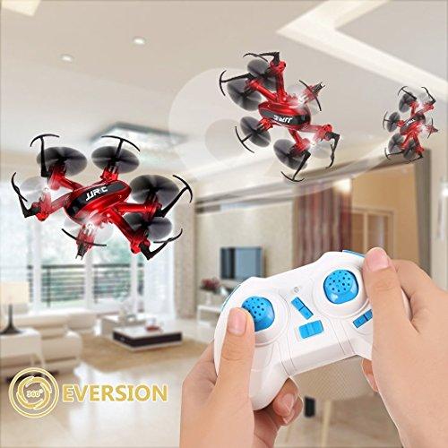 JJRC H20 RC Drone Quadrocopter 2.4GHz mit 4 Kanal, 6 Achsen Gyro, 3D-Flip,kopflos - modus (Rot) - 4