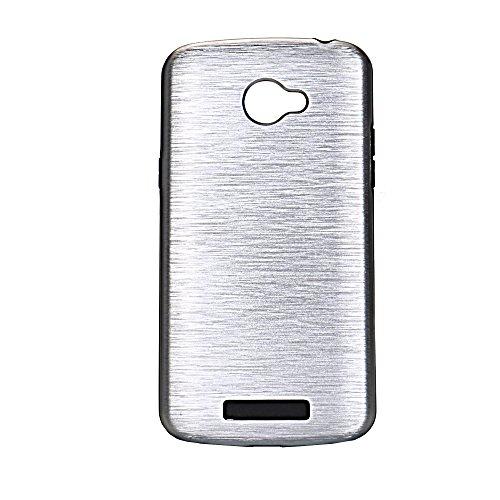 Meimeiwu Custodia TPU Design: 2 in 1 Case Cover Involucro Bumper Astuccio per LG K5 - Nero Argento