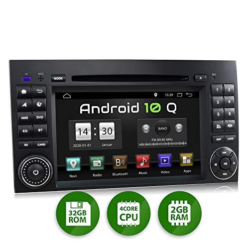 XOMAX XM-D10ZA Autoradio mit Android 10 passend für Mercedes A-Klasse W169, B-Klasse W245, Vito, Viano, Sprinter W906 I GPS Navigation, DVD, CD I Bluetooth, 7 Zoll / 18 cm Touchscreen, USB, SD