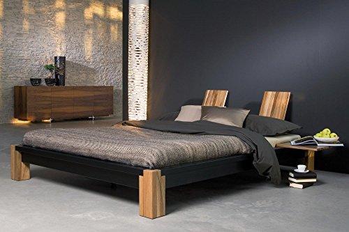 shogazi  Schlafkultur Futonbett CLASSIC – preisgekröntes Designerbett – in Esche massiv, schwarz lasiert