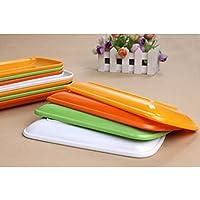 Highdas Piazza Dinner Plate melamina piastra per il partito 8.5 inch bianco, Set di 2