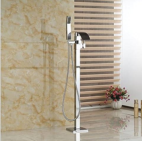 Gowe sol Clawfoot Support Baignoire Bec de remplissage baignoire robinet douchette mitigeur lavabo sur pied
