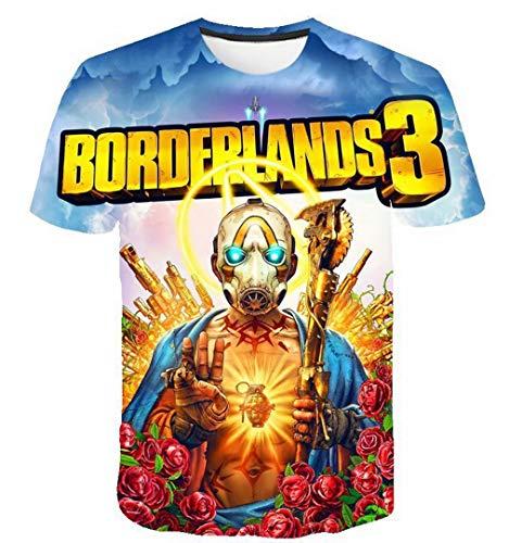 qingning Border T-shirt Spiel Cosplay 3D Drucken Shirt Geburtstag Geschenk