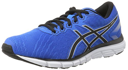 ASICS Men's Gel-Zaraca 5 Directoire Blue/Black/Silver Running Shoes - 8.5 UK/India (43.5 EU)(9.5 US)