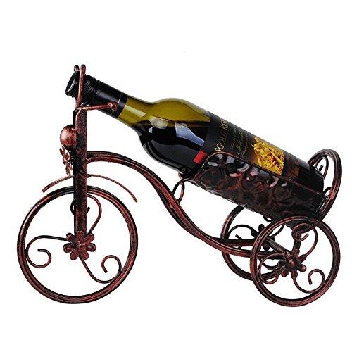 Wein Glas Rack, Wein Flasche Halter, Wand montiert Weinregalen, rot Wein Display Ständer, Metall...