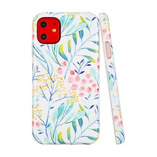 SunshineCases【Kompatibel: Apple iPhone 11】 Dünne, Ganzkörper-Schutzhülle für Damen und Mädchen, Watercolor Spring Wild Flower