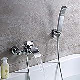KINSE Badewannen amaturen mit Handbrause wannenarmaturen Badwannen Wasserhahn für Bad Badezimmer