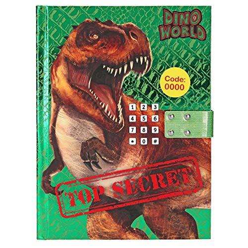 Depesche 10557 Tagebuch mit Code und Sound Dino World, grün, bunt