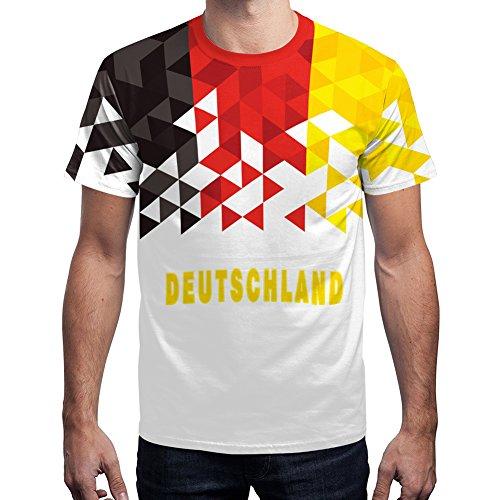 For G and PL WM 2018 2018 Herren Deutschland Fußball Team T-Shirt Außen Sport Championship Party Trikot Germany Motiv 2 L