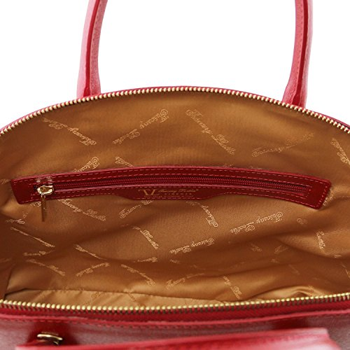 Tuscany Leather - TL KeyLuck - Sac cabas en cuir Saffiano - Grand modèle Bleu - TL141229/77 Rouge