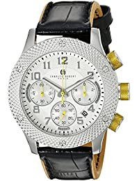 Charles-Hubert, Paris Men's 3979-B Premium Collection Analog Display Japanese Quartz Black Watch