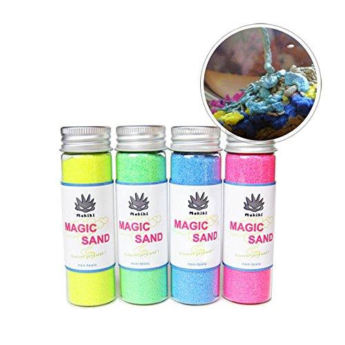 easyshop Mokiki sabbia magica sabbia asciutta fuori dall'acqua scherzare giocattoli regalo per i bambini