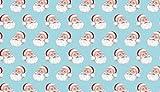Fat Quarter Patchwork-Retro Blue mit Weihnachtsmann-Motiv,