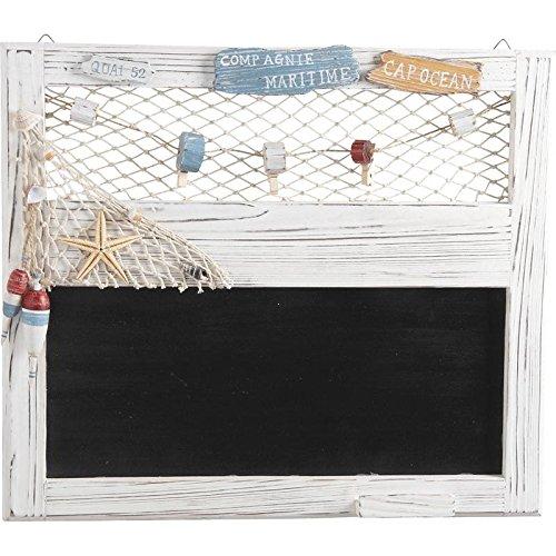AUBRY GASPARD Tableau noir ardoise mural marin