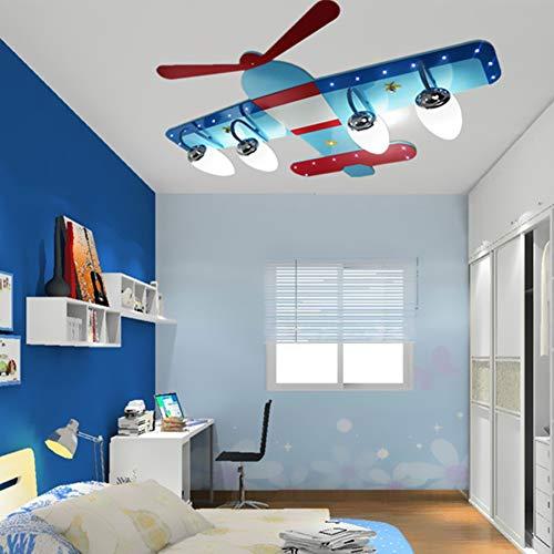 Deckenleuchte, Kinderzimmer Raumdeckenleuchte LED-kreative Karikatur Flugzeug Auge Mädchen Schlafzimmerlampe Beleuchtung Lampen LED Decken Leuchte, Remote Control+White Light ()