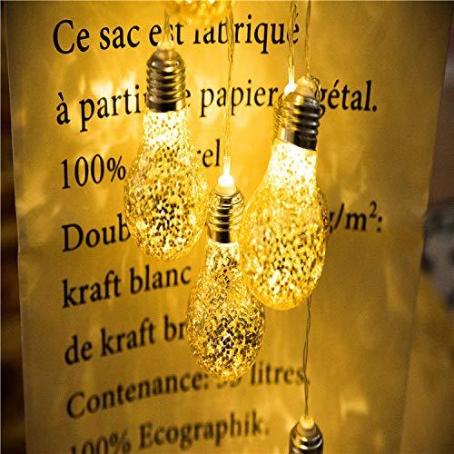Led Gold und Silber Glühbirne Batterie Licht, Weihnachten Indoor Urlaub Dekoration Licht, Nuss Licht, Gold_2 Meter 10 Lichter