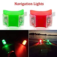 Botepon Marine Boat Bow Red and Green Led Navigation Lights Emergency Lights Backup Lights for Boat Pontoon Kayak Yacht Motorboat Vessel Dinghy Catamaran 2