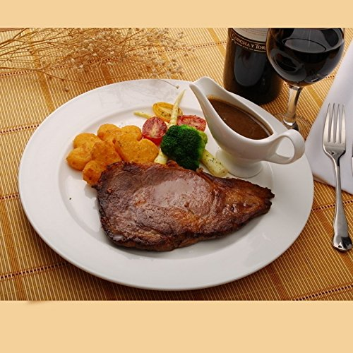 YUWANW Western Tastatur Bone China Steak Teller Keramik Kreative 10,5 Zoll Continental Steak Fach Porzellan Tablett Mit Westlichen Gerichten, (4) Eine Kleine Saft Du Small Bone China