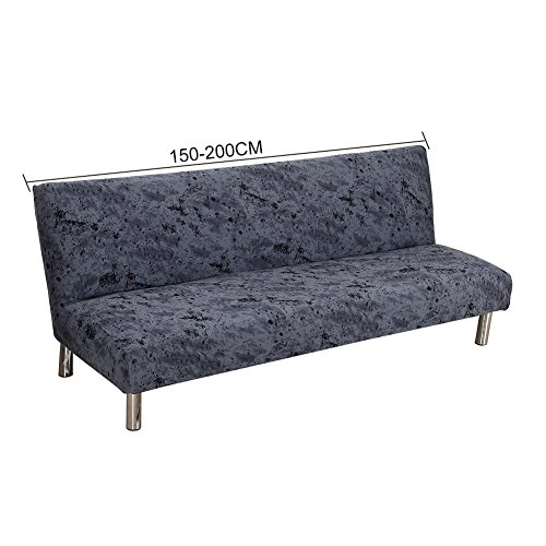 ishine Klappsofa Überwürfe Sofabezug Ohne Armlehnen Schlafsofa mit Stretch Sofahusse 150cmx 200cm Slipcover Sofa Abdeckung-A