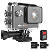 ThiEYE 4K Action Cam WiFi 20MP Action Camera Videocamera, i60+ Telecamera Full HD Sport Action Camera 170° Grandangolare Telecomando, Due 1050mAh Batterie e Kit Accessori Montaggio