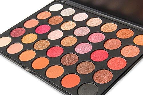 DE'LANCI 35 Color Eyeshadow Palette Waterproof Makeup Eyeshadow Kit Set F