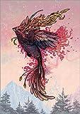 Posterlounge Leinwandbild 120 x 170 cm: Phoenix von Mat Miller - fertiges Wandbild, Bild auf Keilrahmen, Fertigbild auf echter Leinwand, Leinwanddruck