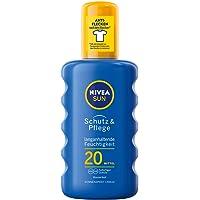 NIVEA SUN Sonnenspray mit verbesserter Formel, Lichtschutzfaktor 20, 200 ml Sprühflasche, Schutz & Pflege