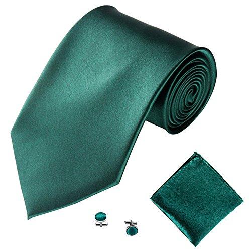 Xmiral Klassische Krawatte Herren Party Einstecktuch Taschentuch Manschettenknopf 3 STÜCKE(F)