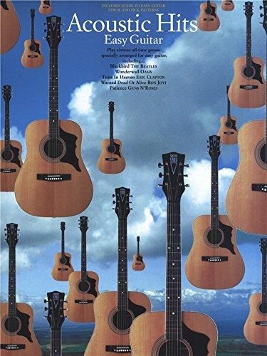Acoustic Hits Easy Guitar. Partitions pour Tablature Guitare(Symboles d'Accords)