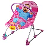 #2: Toyshine Baby Rocker Bouncer Chair Infant to Toddler with Vibration & Music, Pink