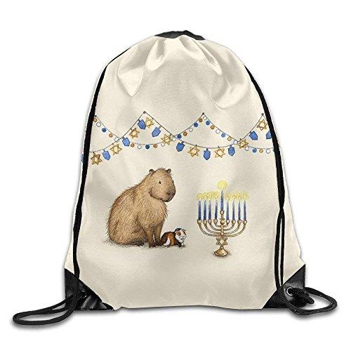 Unisex Turnbeutel/Bedruckte Sportbeutel, Premium Drawstring Gym Bag, Guinea Pig Cartoon Girls Drawstring Backpack Large Capacity String Bags Hiking -