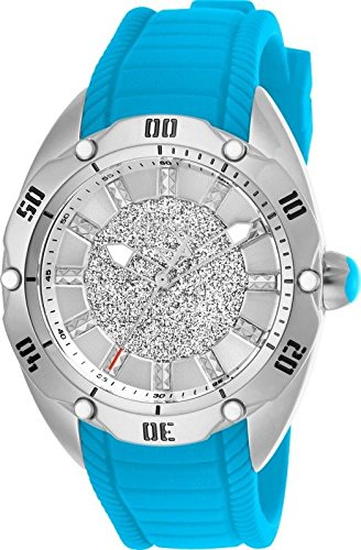 Invicta Women's Venom Blue Silicone Band Steel Case Quartz Analog Watch 26152