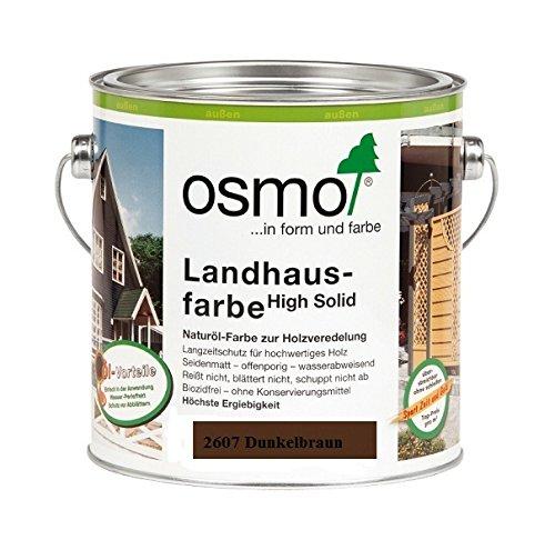 OSMO Landhausfarbe High Solid 2,5L Dunkelbraun 2607