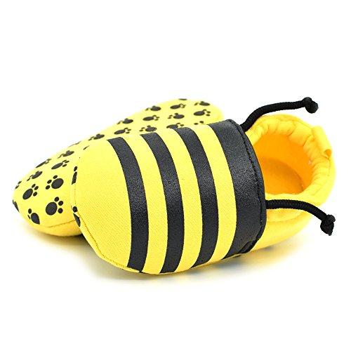 Vesi-Weichen Sohle Baumwolltuch Schuhe Infant Junge Mädchen Lauflernschuhe Krippeschuhe Biene Größe M:6-9 Monate Biene