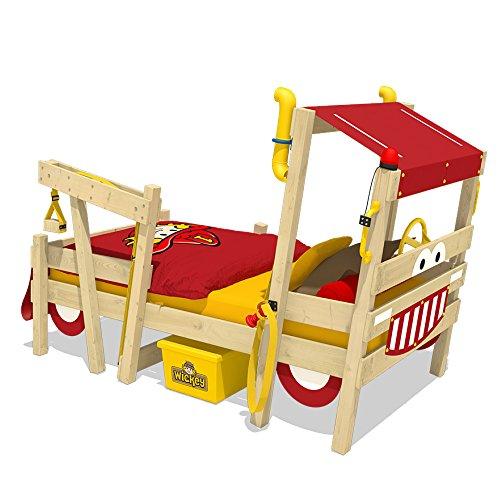 *WICKEY Feuerwehrbett CrAzY Sparky Max Kinderbett 90x200cm mit Lattenboden*