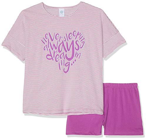 Sanetta Mädchen Pyjama Short Zweiteiliger Schlafanzug, Violett (Purple 6244), 164 - Mädchen Lacrosse Shorts