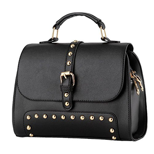 koson-man-mujer-vintage-hebilla-sling-tote-bolsas-asa-superior-bolso-de-mano-negro-negro-kmukhb292
